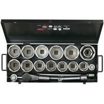 Set De Bocallaves 1 Pulg 19 Piezas Bahco 9540mbl Caja Metal