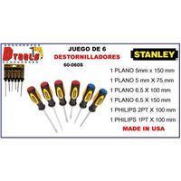 Set De 6 Destornilladores Stanley Mecanico Electricista