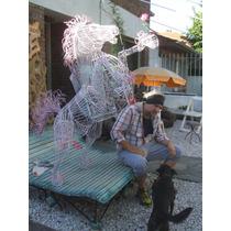 Escultura Hierro Caballo .artista Leonel Tucididi
