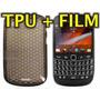 Funda Silicona Gel Tpu + Film Protector Blackberry 9900 9930