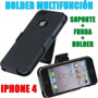 Holder Multifuncion Iphone 4 4s + Funda + Soporte