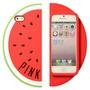 Funda 3d Victoria Secret Iphone 4s 5 5s 6 Pink Anana Sandia