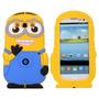 Funda Silicona 3d Minion Samsung Galaxy Fame Win + Film
