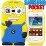 Funda Silicona Minion Samsung Pocket S5300 S5301 Villano