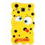 Funda Silicona 3d Moschino Bob Esponja + Film Galaxy A3