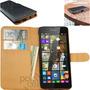 Funda Premium Nokia Lumia 535 Estuche Tarjetero Cuero + Film