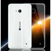 Funda Tpu 0.3mm Transparente Slim + Film Vidrio Lumia 640