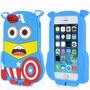 Funda Silicona Minion Capitan America 3d Para Ipod Touch 5