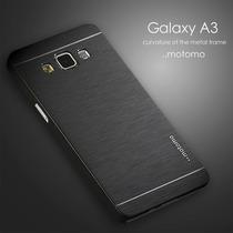 Funda Aluminio Motomo Samsung A3 Film Vidrio Templado Glass