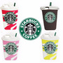 Funda Silicona Animada 3d Iphone 5s 6 6 Plus Vaso Starbucks