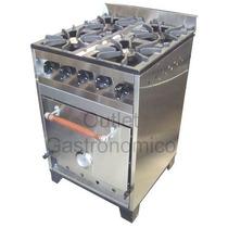Cocina Industrial 57 Cm Eg. 4 Horn Fundición. Total Acero