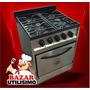 Cocina Indrustrial De Paolo 4 Hornallas 60cm Acero Inox