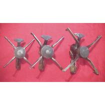 Juego De Tres Hornallas Aluminio Y Bronce Completas Ver...