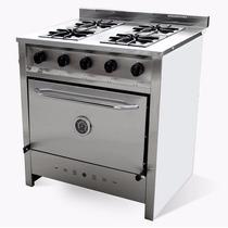 Cocina Industrial 4 Hornallas Gastroequip 80 Cm R/ Fundición