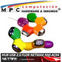 Hub Usb 4 Puertos 2.0 Flor Rotable Articulado Netmak Nm-ac04