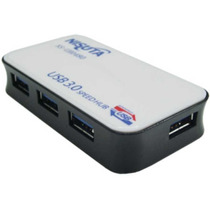 Hub Usb 3.0 Activo 4 Puertos Nisuta C/ Fuente 2 Amper Pc Mac