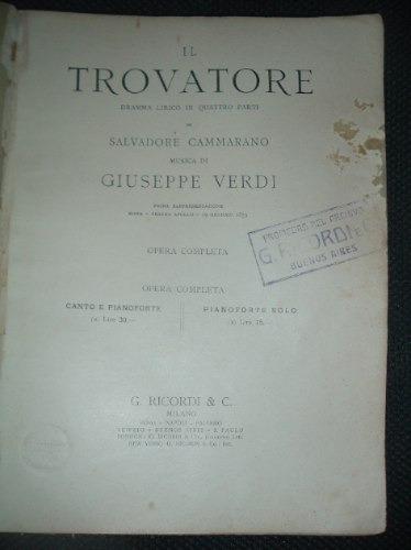 Il Trovatore Giuseppe Verdi Opera Completa Ciudad La Plata