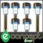 Farol Solar Estaca X 6 Unidades De Acero - Mayor Resistencia