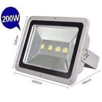Reflector Led Blanco 200w P/exterior 120º 1000w Halogen Ip65