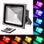 Lamparas Led Reflector Rgb Control Multicolor 220v Bajo Cons