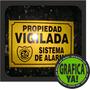 Cartel Alarma - Seguridad 24 Hs