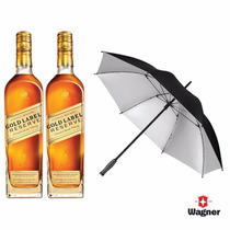 Promo 2 Johnnie Walker Gold Label + Paragua Wagner - 2x750ml