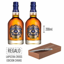Promo Whisky Chivas18 Años Mini + Boligrafo Cross - 2x200ml.