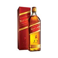 Whisky Johnnie Walker Red Label Litro Con Estuche