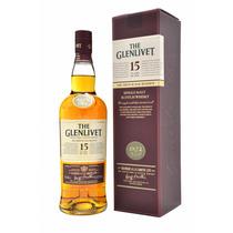 Whisky The Glenlivet 15 Años Botellon De Litro Con Estuche