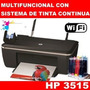 Multifuncion Hp 3515+wifi+sistema Continuo+cable Usb+garanti
