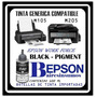 Tinta Epson M205 M105 Compatible Usa / 200 Ml / 2 Unidades