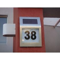 Cartel De Numeración P/ Casas A Energía Solar -lámpara Solar