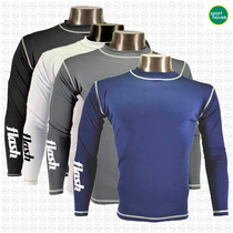 Remera Termica Flash Elastica Manga Larga Ideal Running Gym