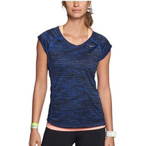 Remeras Nike Miler Running Dri Fit Mujer Uv Originales - Usa