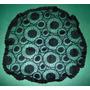 Antigua Mantilla Encaje Negra C/círculos Art Deco Ex Estado