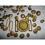 Gran Lote De Antiguos Botones Militares Hebilla Y Otros