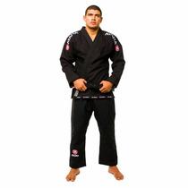 Kimono Jiu Jitsu Negro Trançado Mundial Atama - Adulto