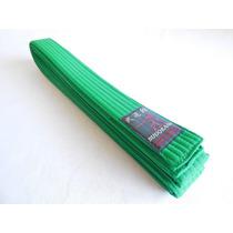 Cinturon Verde Budokan Para Artes Marciales De 7 Costuras