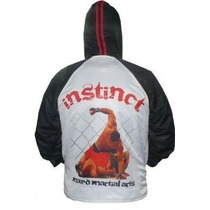 Campera De Mma Con Capucha Marca Instinct Kick Jiu Jitsu Ufc