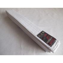 Cinturon Blanco Budokan Para Artes Marciales De 7 Costuras