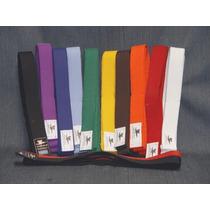 Cinturones Colores Artes Marciales Oriente 2mts 10 Costuras
