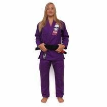 Kimono Jiu-jitsu Kvra Bjj Style Femenino Violeta