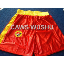 Remera + Short Rojo Y Negro Sanshou Sanda - Caws Wushu