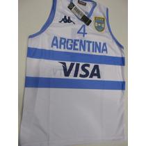 Camiseta Basquet Argentina Kappa Scola Orig Lavalledeportes