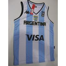 Camiseta Seleccion Argentina Basquet Kappa Mundial 2014 Orig