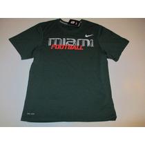 Remera Nike Miami Hurricanes Talle M Nueva Football American