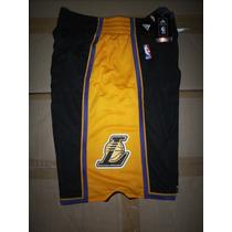 Short N B A 2015 - Los Angeles Lakers - Negros -