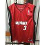 Camiseta Nba Rbk,usa Miami Heat #3 (wade) Talle Xl Joven
