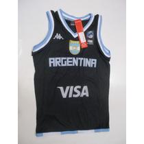 Camiseta Basquet Kappa Selecc Argentina Niño Lavalledeportes