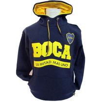 Boca Juniors - Buzo Capucha Adulto La Mitad Mas 1- Caballito